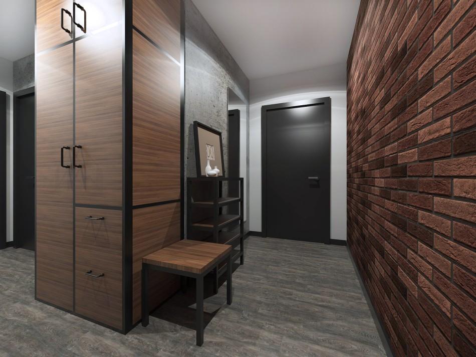 Дизайн коридора квартиры распашонки П44Т
